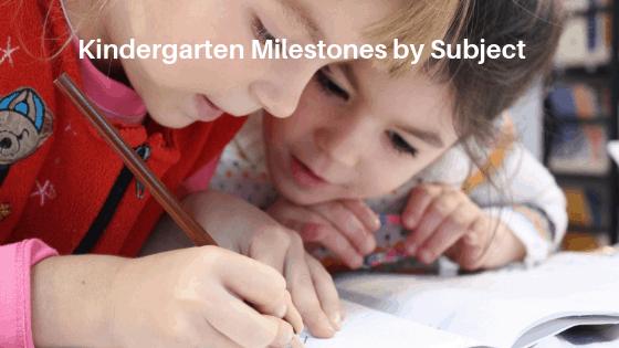Kindergarten Milestones by Subject