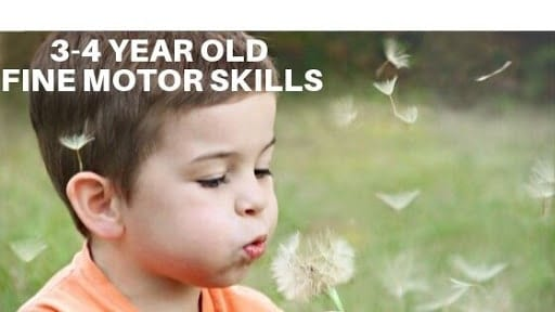 3-4 Year Old Fine Motor Skills