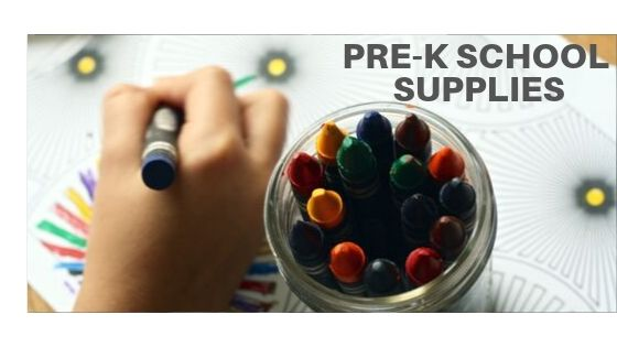 Pre-K Homeschool Suggested School Supplies